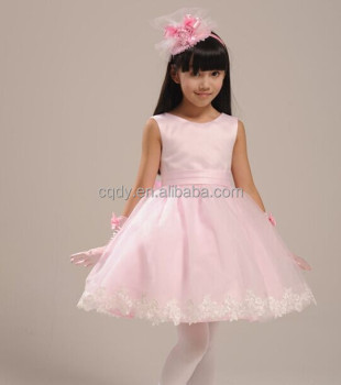 Honey Cute Cheap Prom Dress Children Garments Pink Lace Wedding Dress 3 5  Year Old