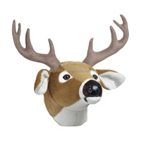 high quality plush modern animal heads wall decor,deer head home wall deacoration for wholesale