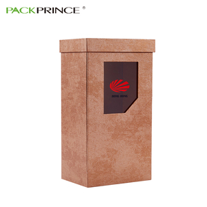Unique Design Custom Logo Flip Top Lid Magnetic Closure Rigid Recycled Paper Packaging Brown Cardboard Gift Box With Window