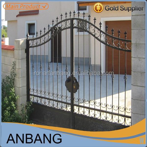 Luxo ferro forjado port o principal e portas de p tio grades para portas e janelas id do produto - Puertas de hierro para patios ...