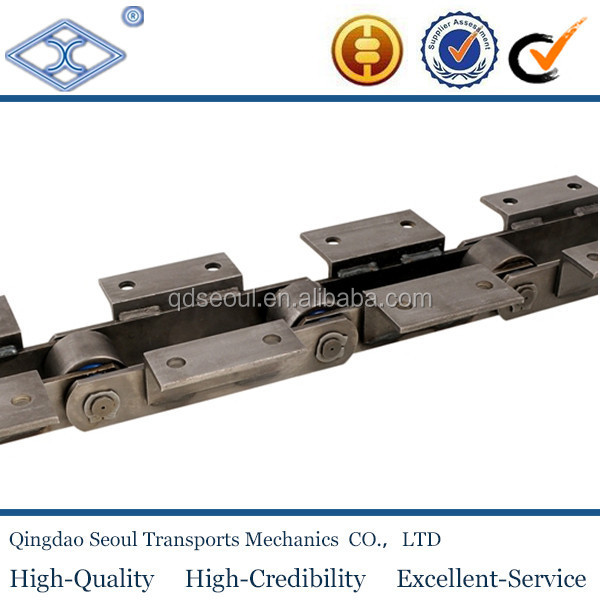 ISO DIN standard m series long pitch steel S type roller m80 roller chain attachment