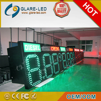 Cash and Credit Waterproof IP65 Gas Price Sign LED Gas Price Display for Gas Station
