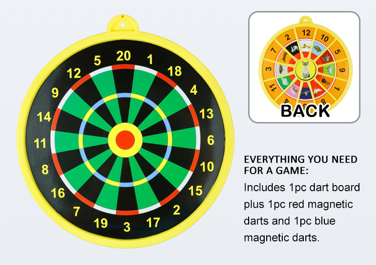 Factory Direct Sale Magnetic Dartboard Set 25 CM Dart Board with 2 Magnet Darts for Kids and Adults