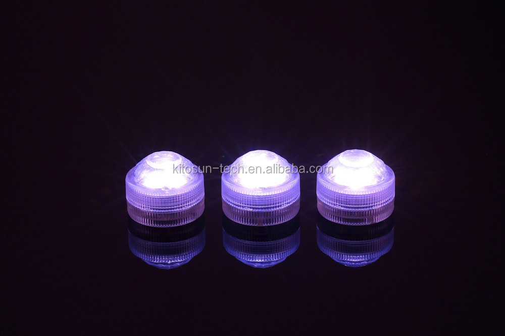 Birthday celebration 3LEDs Underwater Mini LED Light with remote for wedding party decoration,10 Colors Available