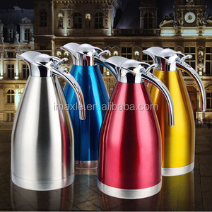 Satin Finish Stainless Steel Thermal Coffee Pot Vacuum Insulated Carafe Flask Tea Kettle 1.5 Liter