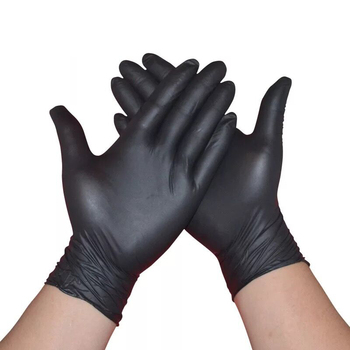 Nitrile Gloves Black Disposable For Medical