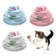 4 Layers Interactive Funny Turntable Crazy Ball Disk Cat Toy for Kitten Cats Pet Products