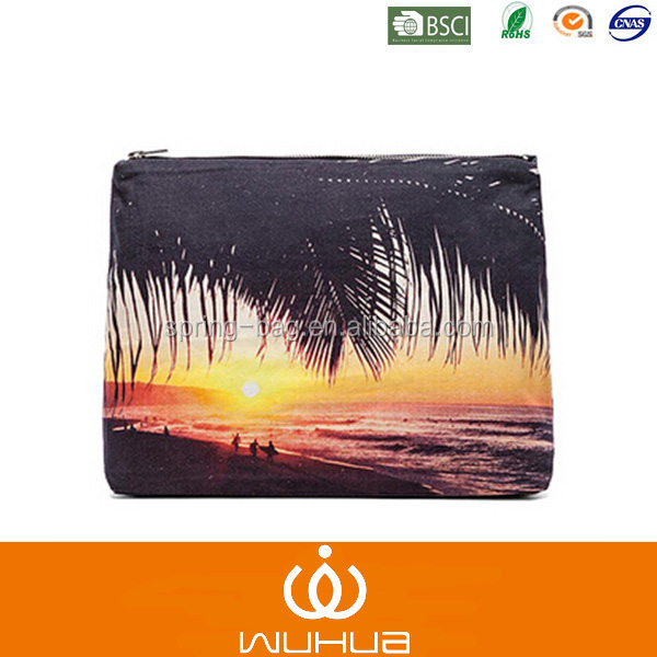 surfer palm cosmetic pouch bag for summer