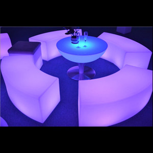 Commercial led circled glowing light chair led Furniture led table led chair General Use and No Folded Led Chair