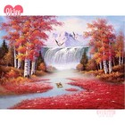 Specially DIY Red Maple Forest 5D Diamond Painting Tree