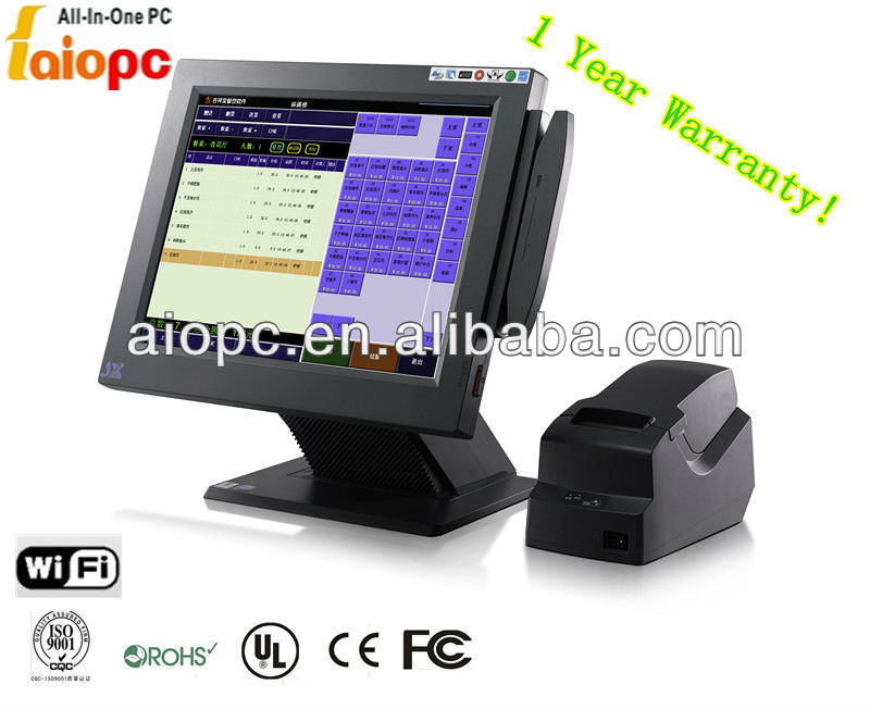 Pos machine/pos system/pos terminal with IC ID card reader,printer,bar code scan