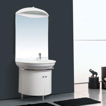 Muebles De Baño Moderno Ecológico De Color Lavabo De Cristal Suelo Vanidad  PVC ...