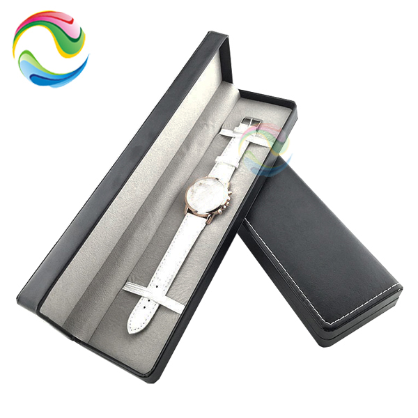 Wholesale Display Black Empty Mens Single Wrist Bulk Custom Logo Cardboard Gift Long Pu Leather Luxury Paper Watch Packing Boxes