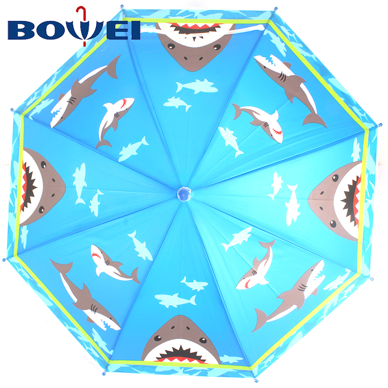China hot products kids rainproof POE small custom umbrella with print
