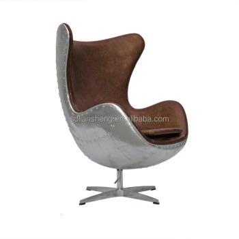 Aviator Arne Jacobsen Spitfire Vintage Egg Chair Aluminium Plated
