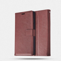 Leather Wallet Flip Cover for iPhone xs max leather phone case card slot brown pu cover for iPhone