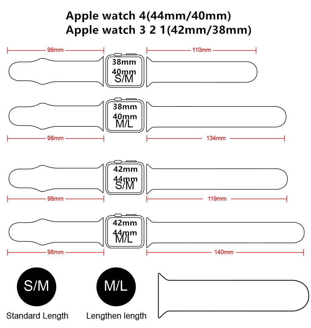 Dây Đeo Cho Vòng Đeo Đồng Hồ Apple 5 Dây Đeo Đồng Hồ 42 Mm 38 Mm Silicone Pulseira Apple Watch Correa Dây Đeo 44 Mm/40 Mm IWatch Series 4 3