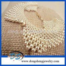 beaded collar jewelry making for women pearl collar white