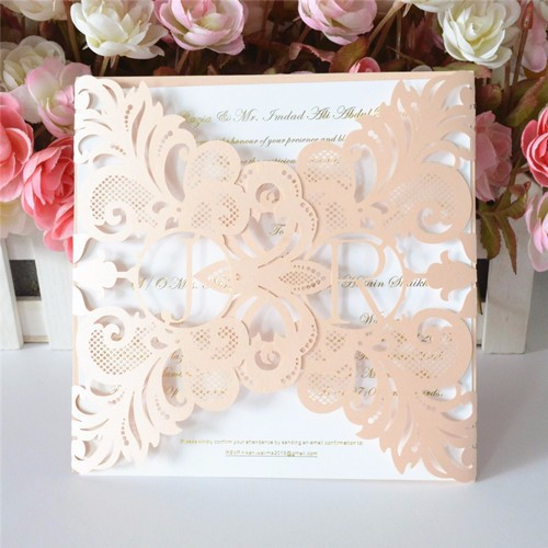 Cheap Unique Wedding Invitations: Wholesale Elegant Wedding Diy Decoration! Peach Wedding