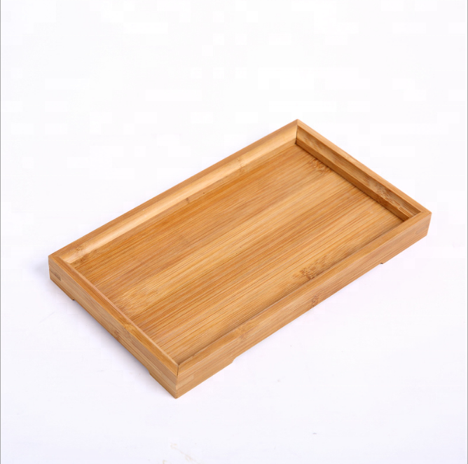 Wholesale bamboo solid wood tea set kung fu tray small wooden tea dim sum <strong>plate</strong>