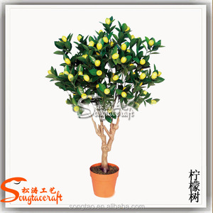 Decorative artificial orange tree small tree artificial bonsai plants for home and garden