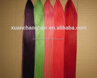 Wholesale bright colors synthetic fiber cheap price hair bulk