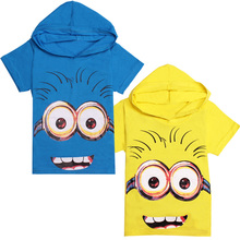 New 2015 Short Sleeve T-Shirts despicable me minion boys t shirt girls nova T-Shirt kids children hoodies Autume Spring