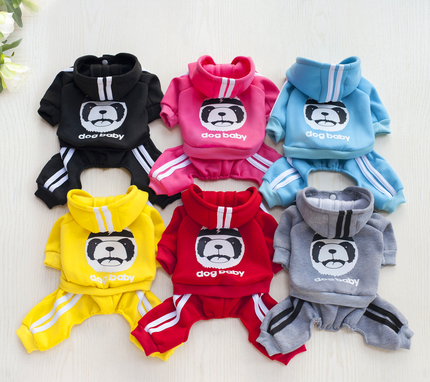 Autumn Winter Pet Dog Clothes Cotton Puppy Dog Clothes For Dogs Hoodie Pets Coats Pets Products for French Bulldog
