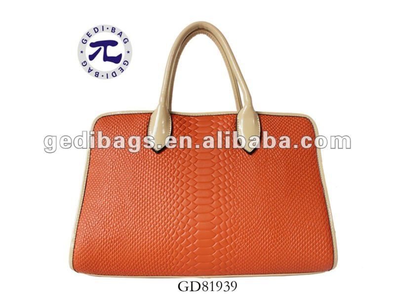 2012 the lastest crocodile handbag lady bag handbags with OEM factory price