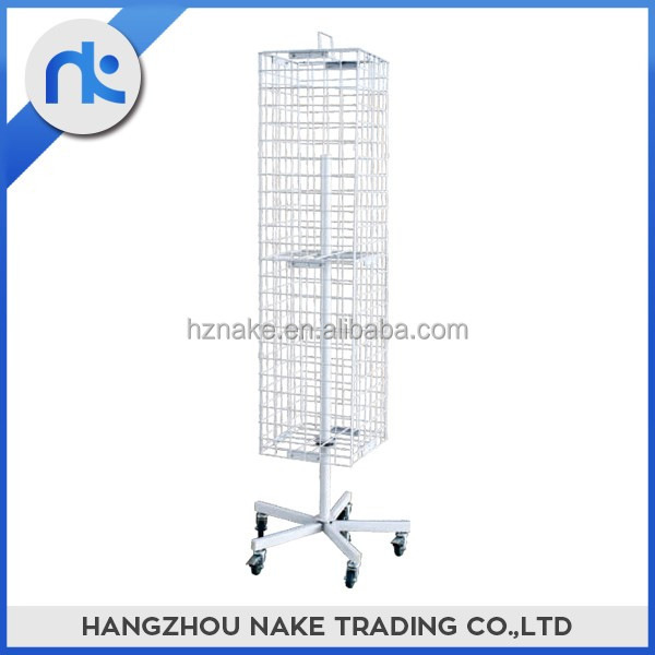 China supplier four sided hanging wire display rack