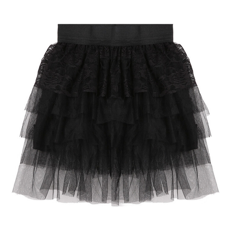 a727cd619 Get Quotations · 2015 Fashion Black Color Short Skirts Flowers Pattern Hot  Sale Multilayer Mini Ball Gown Skirt Women