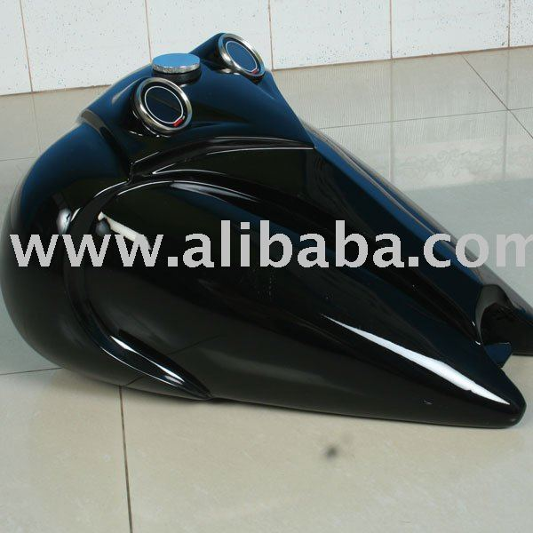 Fat bob flat sides custom chopper motorcycle gas tank