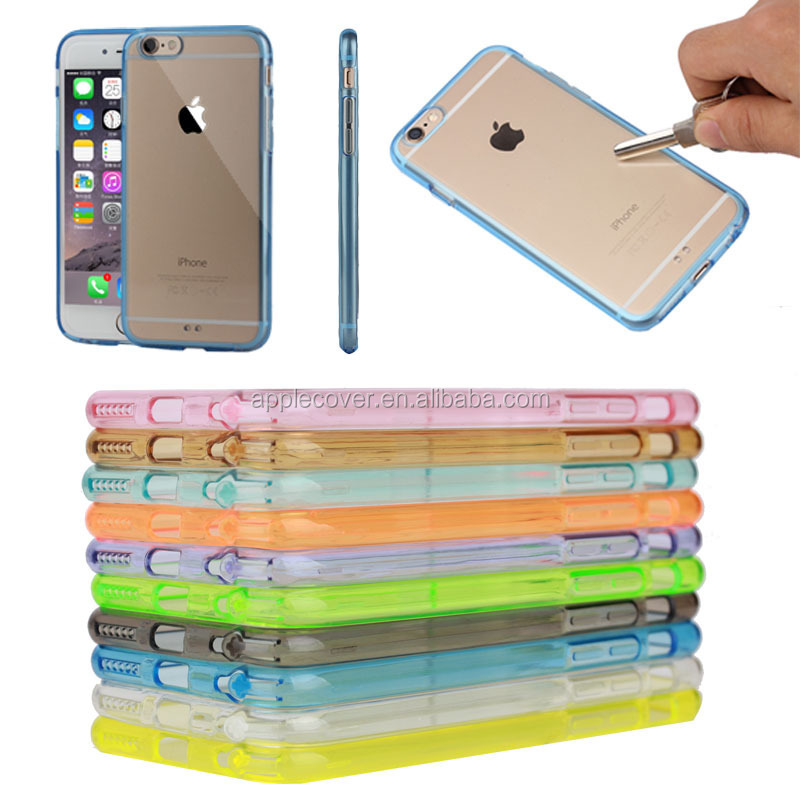 Wholesale transparent clear PC & TPU case for iPhone 6S, for apple iphone 6S cover