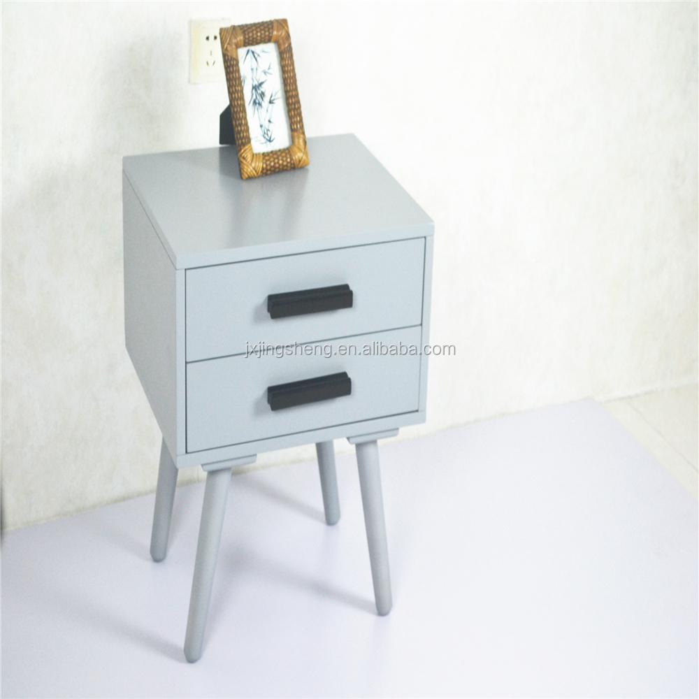 מגה וברק אמצע המאה רטרו קטן צבוע צבע אפור שידות לילה עבור ebay, אמזון EP-09