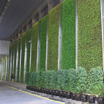 Artificial Greenery Wood Plate Privacy Screen Plant Wall
