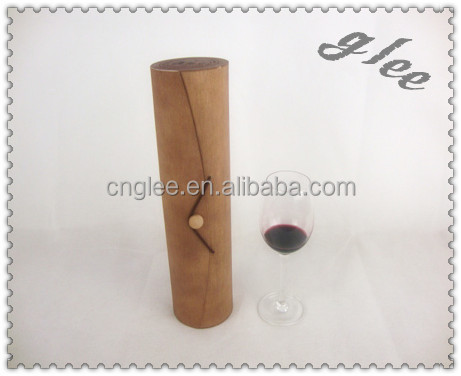 Handcraft Wooden Bark Box For Single Wine Bottle