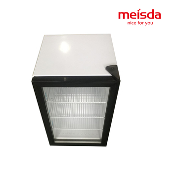 Meisda 68L table top glass door display soft drinks fridge showcase