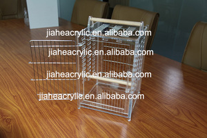 Pet Cages, Carriers & Houses Newly Design Handicraft Acrylic Bird cage  Stainless Steel Bird Cage