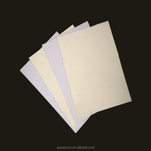 Blanco opaco frosted pvc hoja