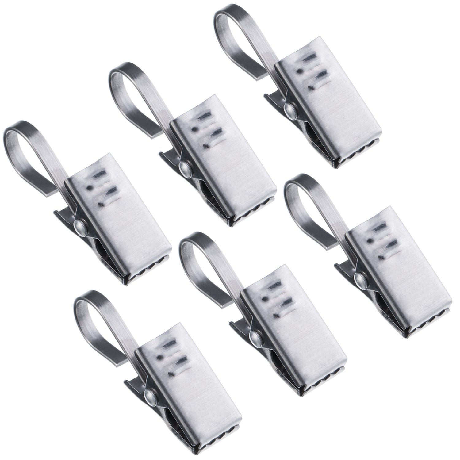 TecUnite 50 Pack Stainless Steel Clips Curtain Hooks Photo Clips for Party Home Decoration
