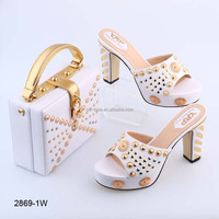BL2869 New design beautiful color italian ladies shoes and bags for sale
