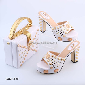 cd7958377830b7 BL2869 New design beautiful color italian ladies shoes and bags for sale