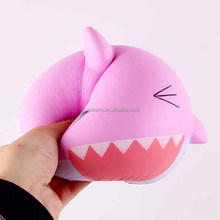 2017 new product lovely soft pu custom whale squishy hand wrist squeeze kids toy