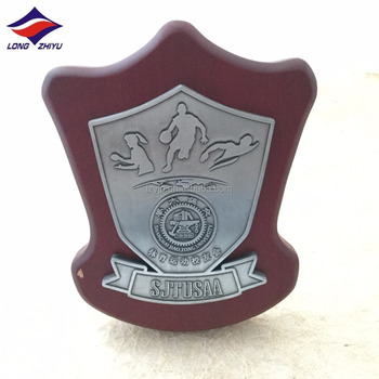 Custom wood award plaque wholesale blank wood shield with stand