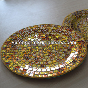 gold foil mosaic decorative plates dish