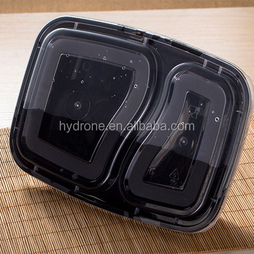 2 Compartment Plastic Food Container,Bento Lunch Box with Dividers,microwave safe food container