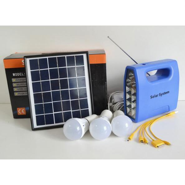 Small Mini Rechargeable LED Home Lighting Solar Power System