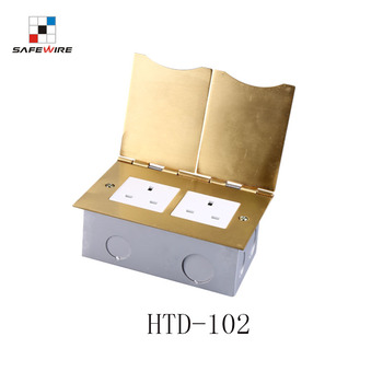 IEC60884 standard brass allouy floor mounted sockets ground outlet box OEM factory