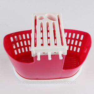 Promotional good quality useful cheap price Plastic Homeware Kitchen Living Room Cooking Tools fork spoon knife Storage Basket