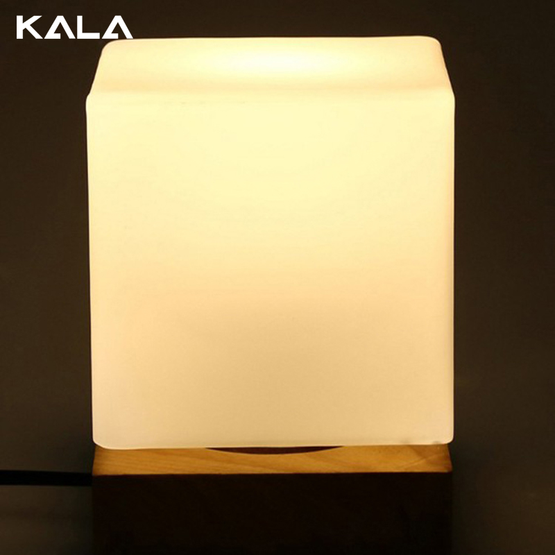 New style bedroom bamboo led atmosphere wood table lamp